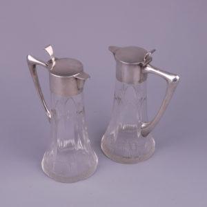WMF - Paar Art Nouveau Tinnen Fotolijsten circa 1900